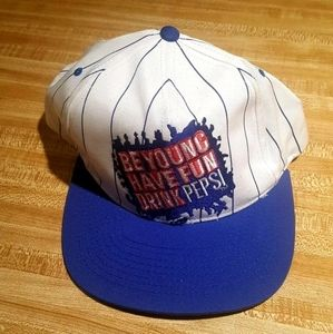 Vintage Pepsi Snapback Hat Be Young Have Fun Drink